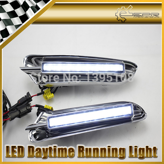 Фотография New Car Styling Auto Lamp For Buick Encore With Plating 2013-2014 LED Daytime Running Light DRL Car Accessories