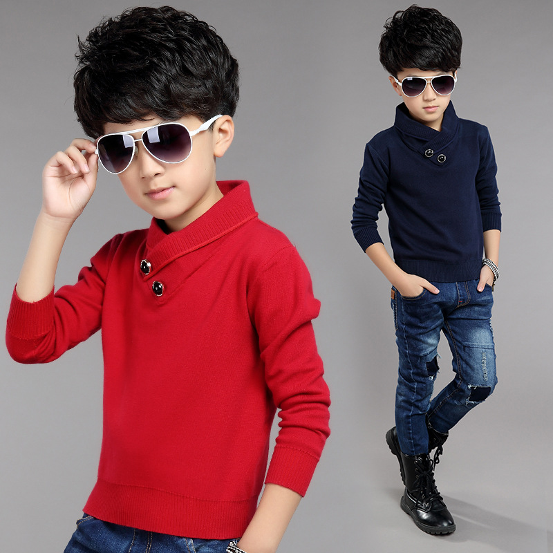 Big Boys Turtleneck Sweaters 2016 Autumn Children Clothing Long Sleeve Cotton Boy Knitted Pullovers Fashion Casual Kids Clothes<br><br>Aliexpress