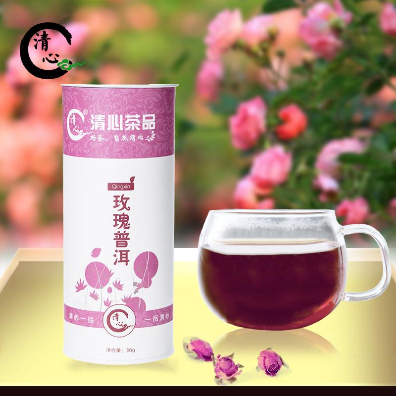 2015 year 36g Exquisite canned Organic Rose tea Pu er tea rose whitening skin nourishing the