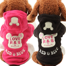 Buy New Fleece Puppy Dog Coat Cat Pet Clothes Cute Bear Costume Warm Autumn Yorkie Chihuahua Hoodie Clothing Dogs Teddy 25 for $3.70 in AliExpress store