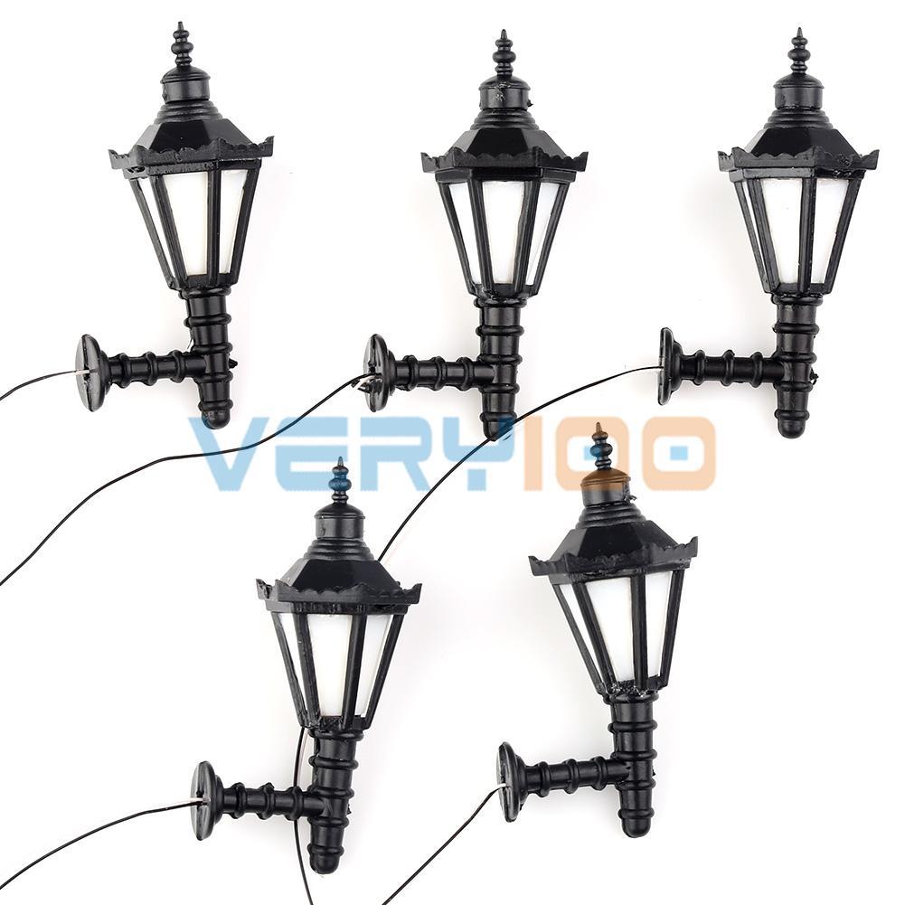 1:25 Model Led Lamppost Lamps Wall Lights Train Railway Scale Modal Layout 12V 5pcs Per Lot<br><br>Aliexpress