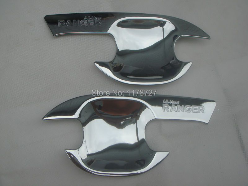 Free Shiping 2012-2015 RANGER Door Handle bowl cover ABS chrome outside handle cover small type  RANGER accessory   accessories