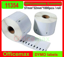 16 X Rolls 2014 New Arrival Top Fasion Dymo Compatible Labels 11354 1354 57x32mm 1000 Per Roll Multipurpose for Seiko Label