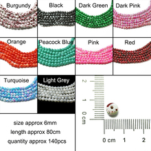 Buy New Arrival 6MM 140pcs/lot Bead Round Assorted Colorful Glass Beads For Women DIY Fashion Charms Jewelry Bead Bracelet Necklace for $1.29 in AliExpress store