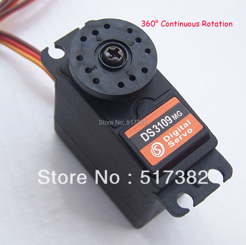 5x Free Shipping Servo 360 Degree Continuous Rotation