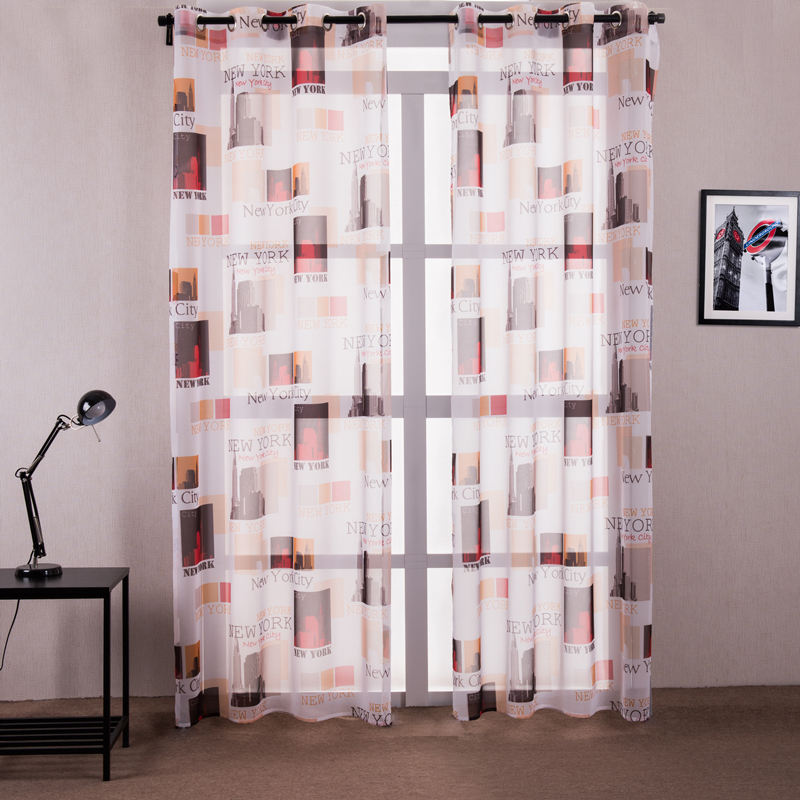 White new york city curtains for the bedroom polyester for New york style curtains