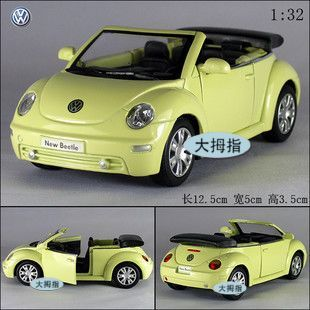 Volkswagen cabrio beetle soft world sports car WARRIOR toy car alloy car mold(China (Mainland))