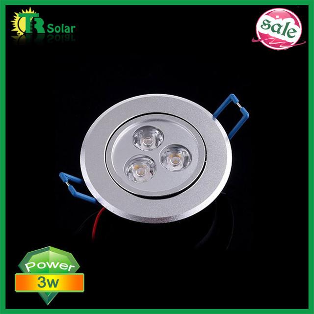 10pcs/lot 3*1W Warm White/Cold white Bulbs LED Ceiling Light Lamp 85~265V LED down light Free shipping