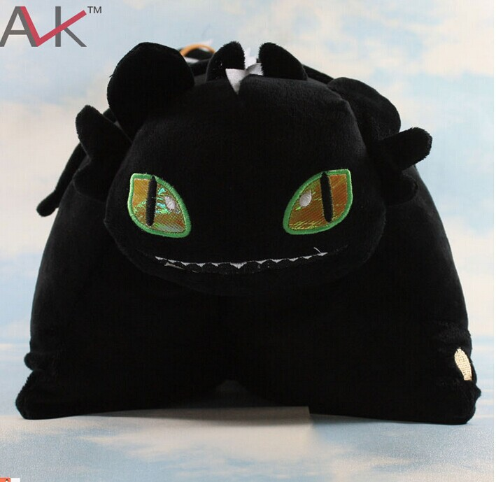 1Pcs How to Train Your Dragon 40*33cm Toothless pillow Night Fury Firedragon nightmare Plush Toy Stuffed Teddy Dolls(China (Mainland))