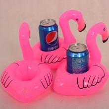 10Pcs hot Mini Cute fanny toys Red Flamingo Floating Inflatable Drink Can Holder Swimming Pool Bathing Beach Party Kids Bath Toy(China (Mainland))