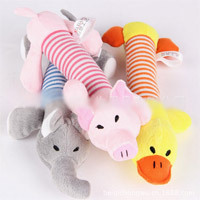 Plush Stuffed Play Hot Selling Novelty Pig Elephant Duck Dog Pet Puppy Toys Squeaker Sound Plush Sound Chew Squeaky(China (Mainland))