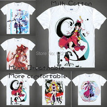 2015 Touhou Project Yagokoro Eirin T Shirt Cosplay Costumes Men's Japanese Famous Anime T-shirt Unique Gift Camisetas Masculina
