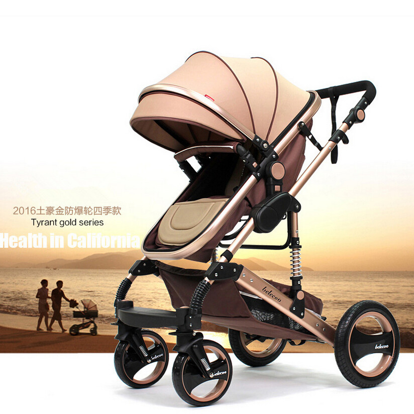 2016 New Fashion Design Luxury Baby Stroller,Newborn Child Bassinet Carrycot Folding Travel System Infant Prams Pushchair Buggy<br><br>Aliexpress