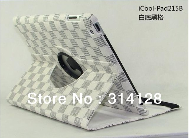 360 degrees rotate smart cover case for ipad3 with Stand Sleep/Wake Up Function