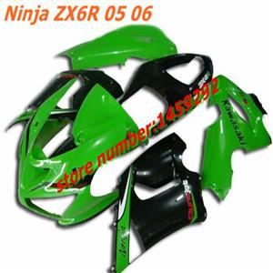 Motor ABS motor fairing/bodywork/bodykits KAWASAKI Ninja ABS Parts Ninja ZX 6R 2005 2006 green-black(China (Mainland))
