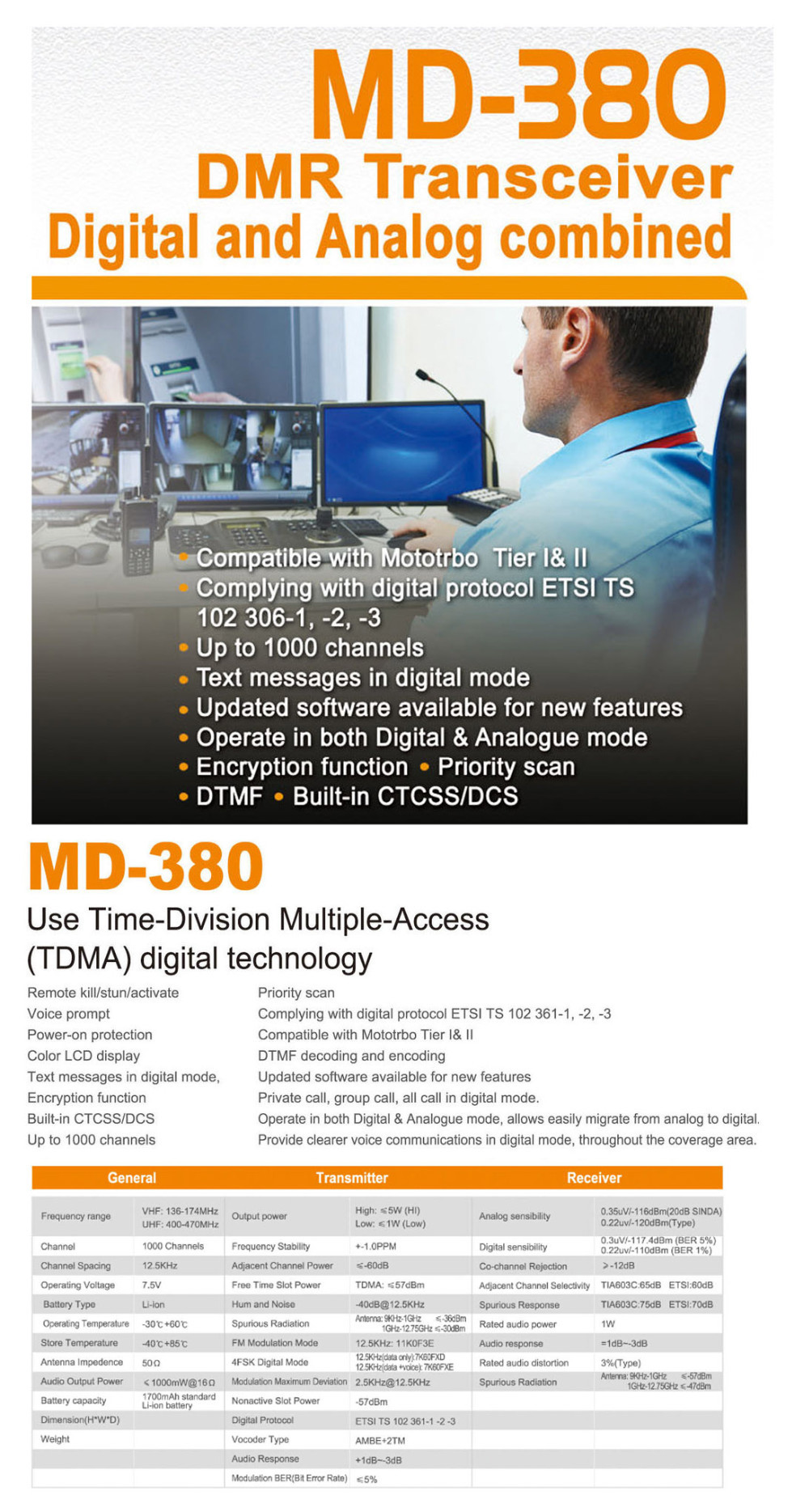 MD380 DMR compatiable with MOTOROLA