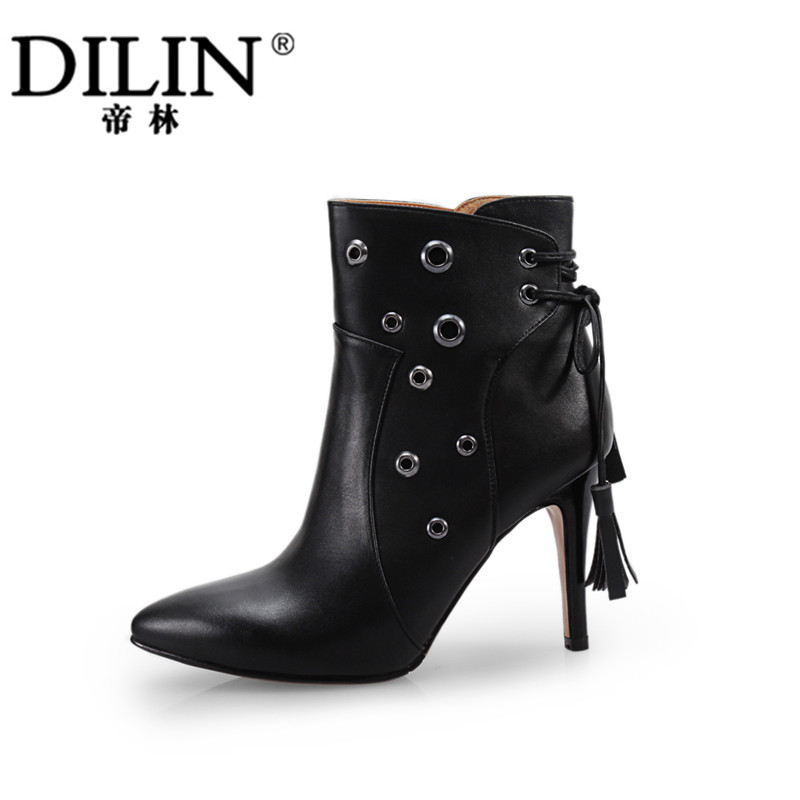 Autumn and Winter Woman Boots Female Short Tube Martin Boots New Tide High-heeled Boots<br><br>Aliexpress