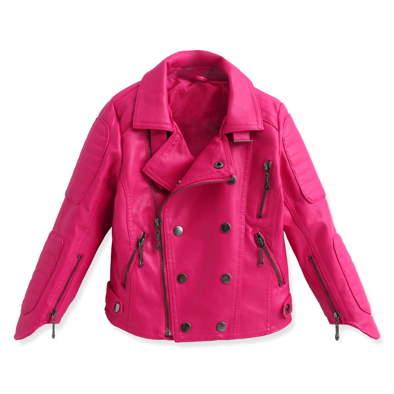 Kids Pink Leather Jacket - Jacket