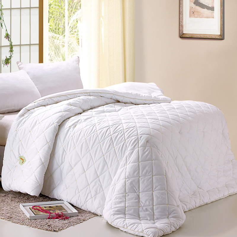 handwork white duvet quilt silk mulberry cotton quilted blanket comforter 200230cm 30kg queen size free shipping