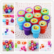 12PCS Self-ink Stamps Kids toy  Party Favors Event Supplies for Birthday Gift Boy Girl Goody Bag Pinata Fillers Fun Stationery(China (Mainland))