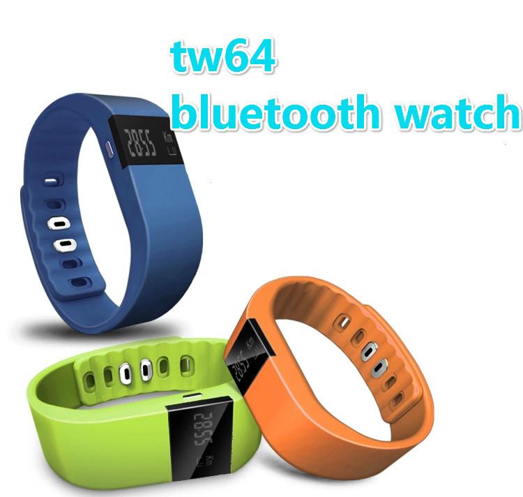 tw64 Smartband Smart bracelet Wristband Fitness tracker Bluetooth 4.0 fitbit flex silicone Watch ...