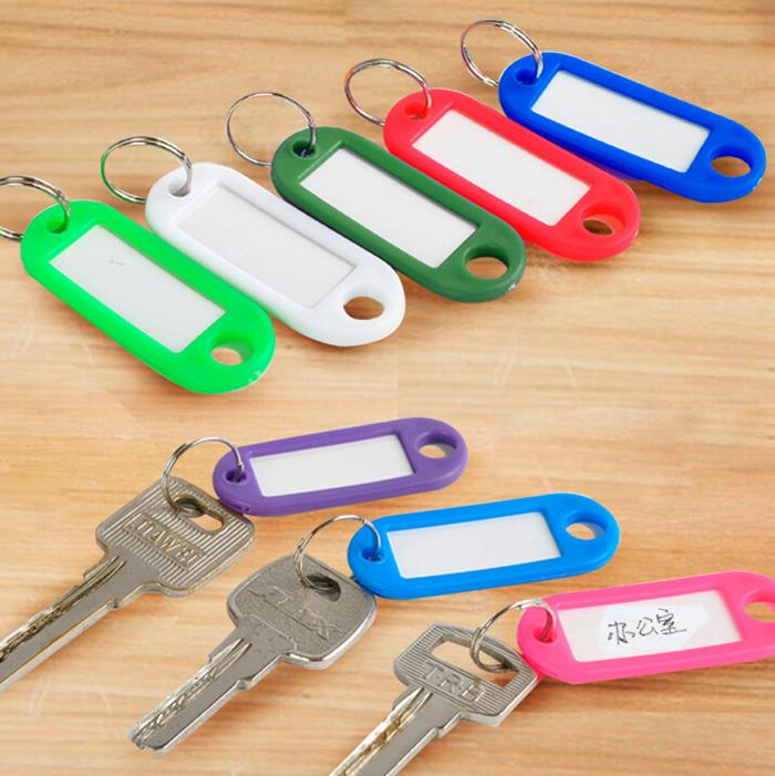 Suitcase Tag Hotel Number Classification Brand Plastic Color Coded Key Identification Tag Key Ring Key Chain Free Shipping(China (Mainland))