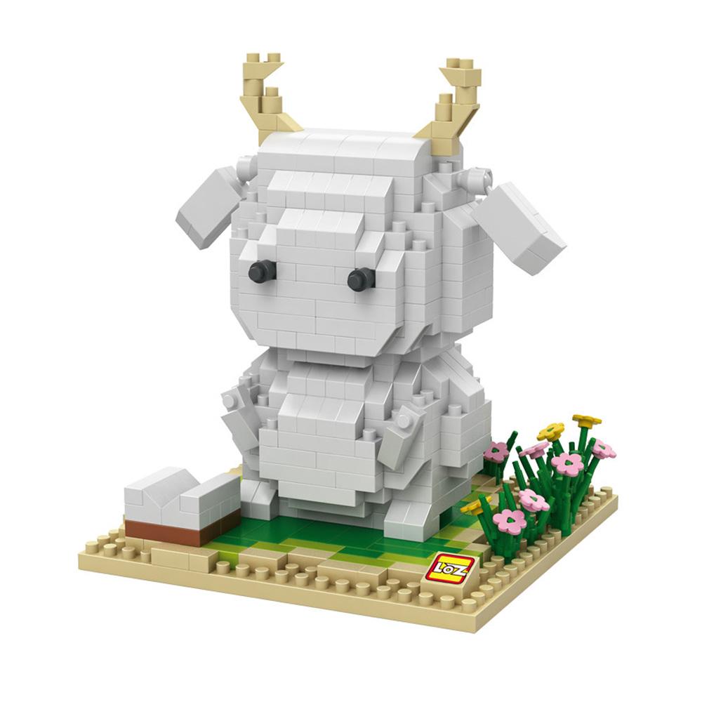 Mero Sheep Goat Action Figures Cute Toys Cartoon Model MASHIMARO Rabbit Minifigures Micro DIY Building Blocks Gift(China (Mainland))