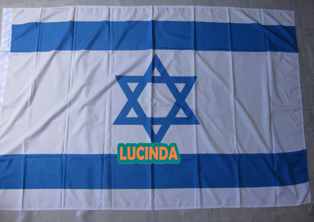 ( 4 ' x 6 ) Israel flag double stitched 125 190 cm - Lucinda store