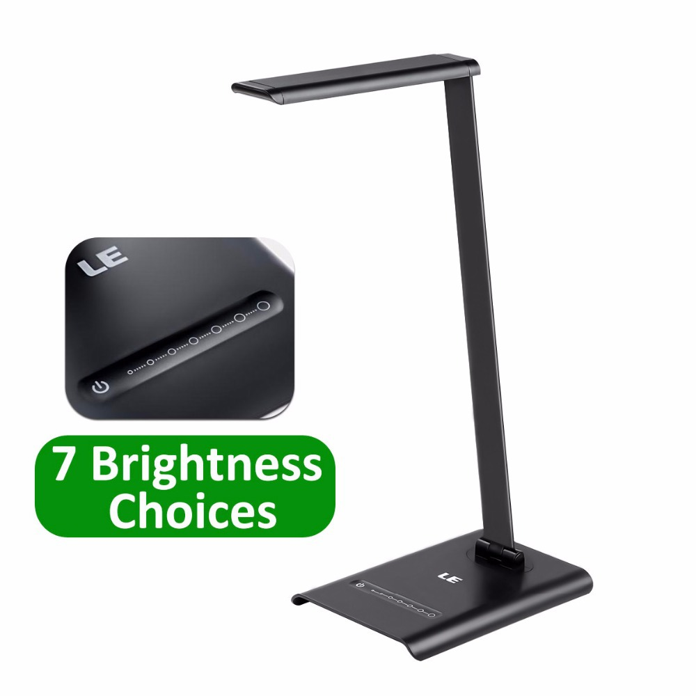 LE 6W Dimmable LED Desk Lamps, 7-Level Brightness, Touch Sensitive Control, Daylight White, Folding Table Lamps, Reading Lamps(China (Mainland))