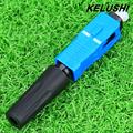KELUSHI FTTH 10pcs single multi mode fiber optical quick cold connector for digital communication SC UPC
