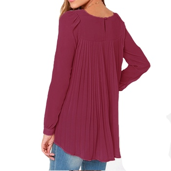 New Zanzea 2015 Summer Style Women Sexy Casual Loose Chiffon Tops Long Sleeve Solid Shirts Ladies Blouses Plus Size Blusas