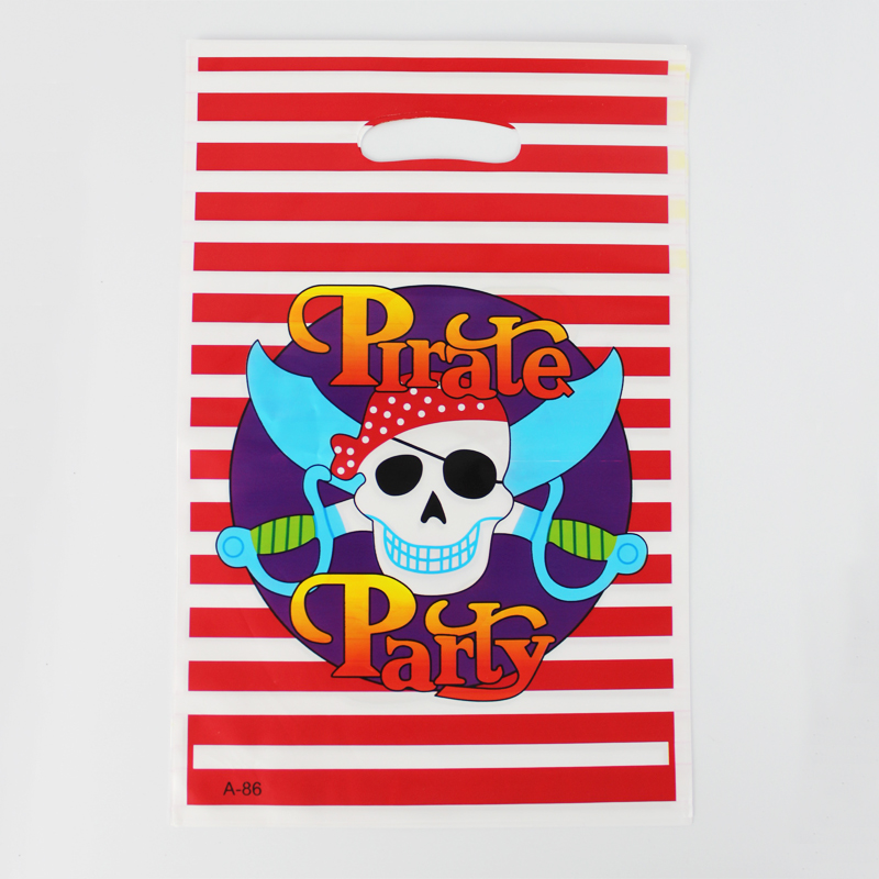 12pcs Loot Bag for Kids Birthday/festival Party Decoration Pirate Party Theme Party Supplies Candy Bag Shopping Gift Bag(China (Mainland))