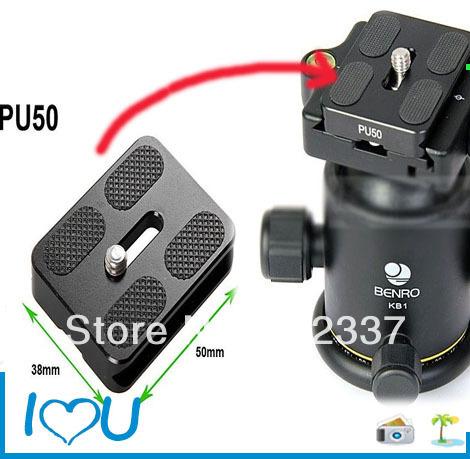 "Tripod Heads PU-50 50mm QR Camera Body Plate Arca Compatible w 1/4"" Screw PU50 NEW(China (Mainland))"