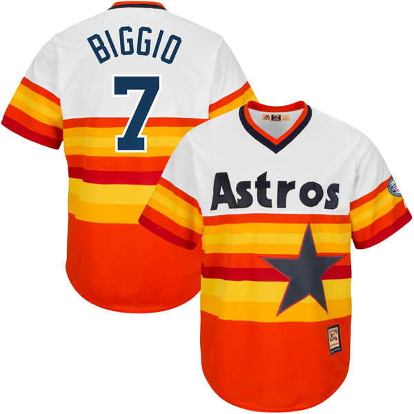 MLB Houston Astros Craig Biggio Men's Flex Cool Base Jersey Cooperstown Collection Player Jersey Baseball Jerseys(China (Mainland))