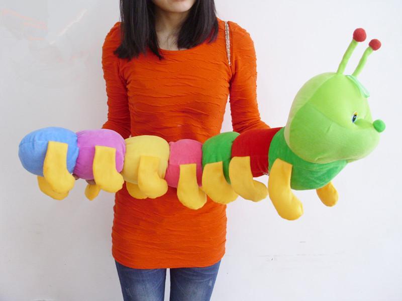 Игрушка гусеница из ткани