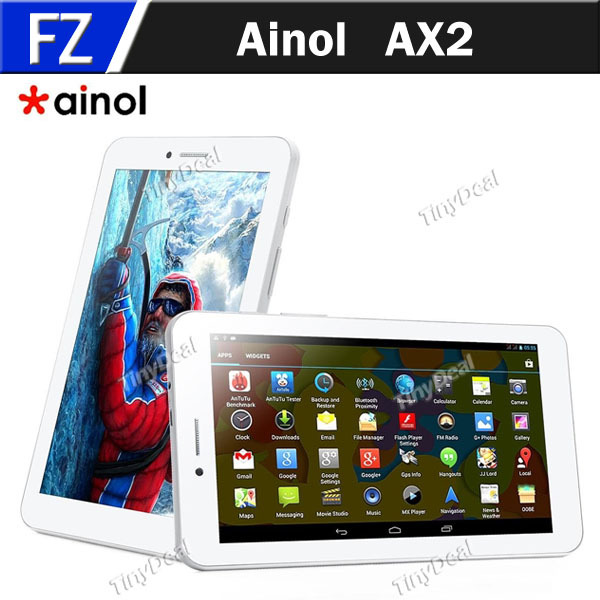 "In Stock Original Ainol AX2 7"" 7 Inch IPS Android 4.2.2 MTK8382 Quad Core 3G Phablet Tablet PC Phone GPS Bluetooth 4.0 Miracast(China (Mainland))"