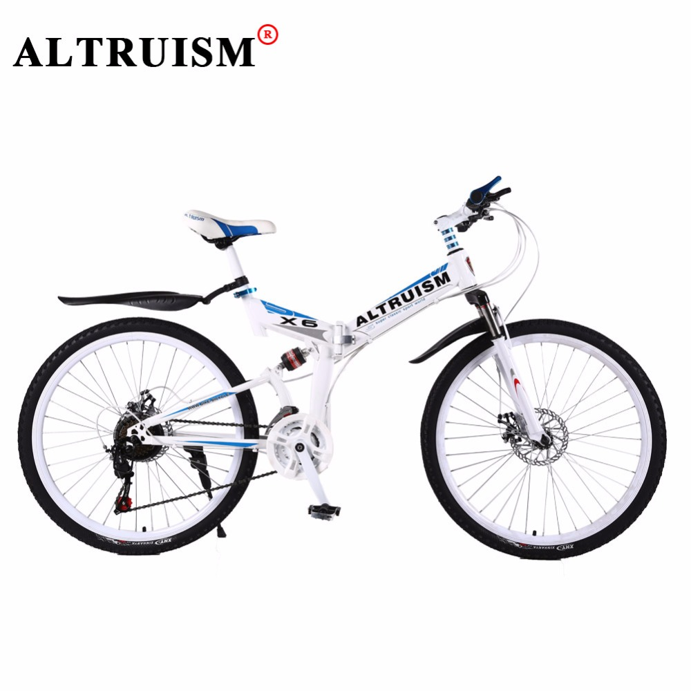 Altruism X6 Mountain Bicycles Steel Bmx 26 Inch 24 Speed Bicicleta Full Suspension Bikes Mens Bisiklet Folding bicycle Bike(China (Mainland))
