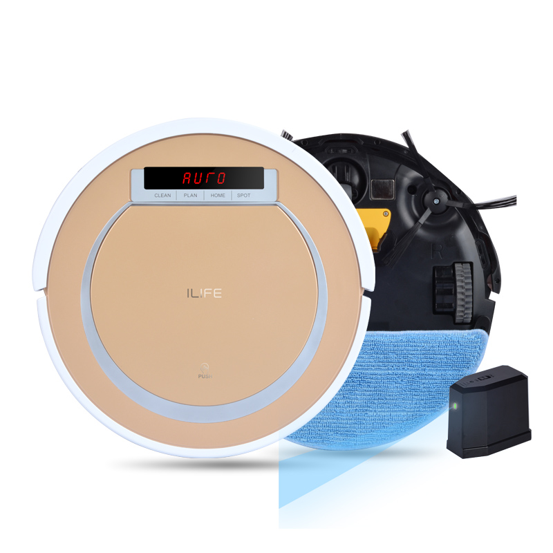 ILIFE X5 2 in1 Robot Vacuum Cleaner for Home Virtual Wall Smart Dry and Wet 800PA Power HEPA Sensor Self Charge ROBOT ASPIRADOR(China (Mainland))