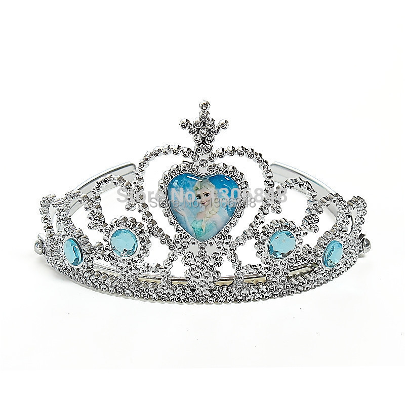 New Year Children Party Supplies Accessories Crown Elsa And Anna Princess Crown Hair Accessories For Girls(China (Mainland))