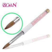 Retail 1 Pc 10#New Pink Diamond Kolinsky Acrylic Nail Brush Free Shipping(China (Mainland))