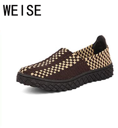 EU 35-44 Summer New Mesh Breathable Braided Shoes Women Men Shoes Zapatillas Deportivas Mujer Canvas Shoes Slip-On Flat Shoes<br><br>Aliexpress