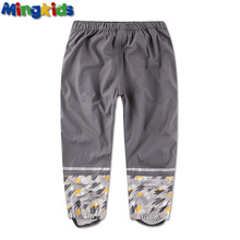 Mingkids Waterproof padded trousers with fleece for boys outdoor pants good package wrapped ski pants(China (Mainland))