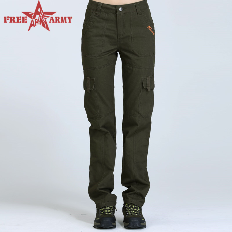New Arrival Outdoor Army Fatigue Cargo Pants Women Army green camouflage trousers military joggers Hiking pants GK2011-055 Z30(China (Mainland))