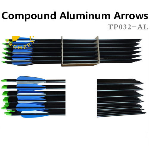 30 12pcs Compound Aluminum Arrows bow and arrows of hunting