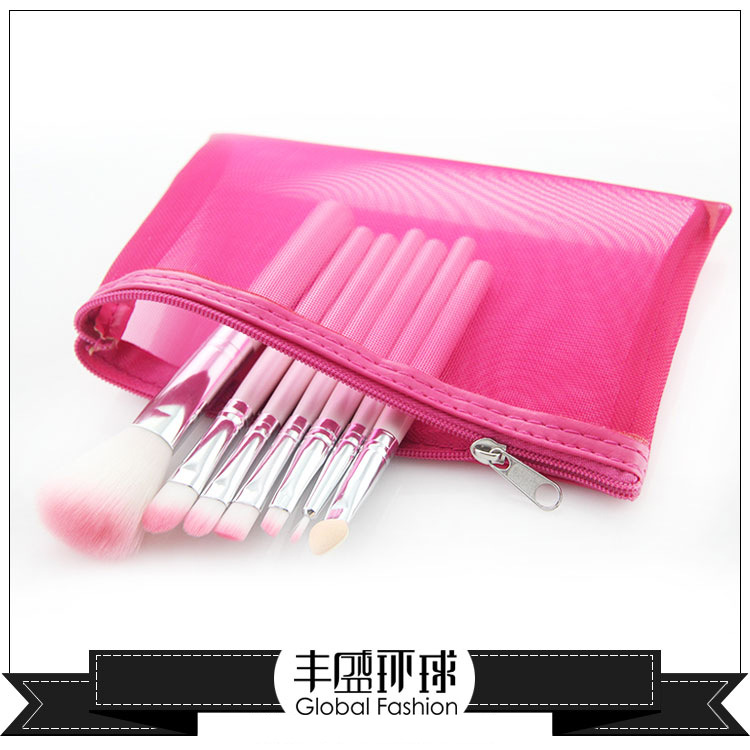 Makeup Brush Set 7 make-up make-up tools necessary to lovely pink WeChat explosion models Taobao hot spot<br><br>Aliexpress