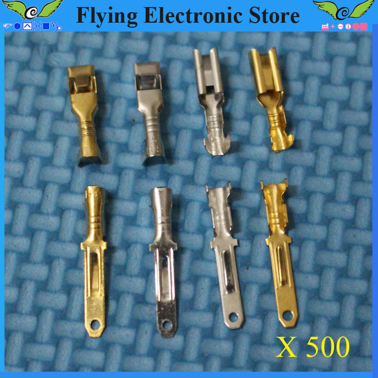 500 pairs/lot full copper 2.8mm Male&Female Crimp terminal Connectors, 2.8mm terminals,car connector Spade terminal(China (Mainland))