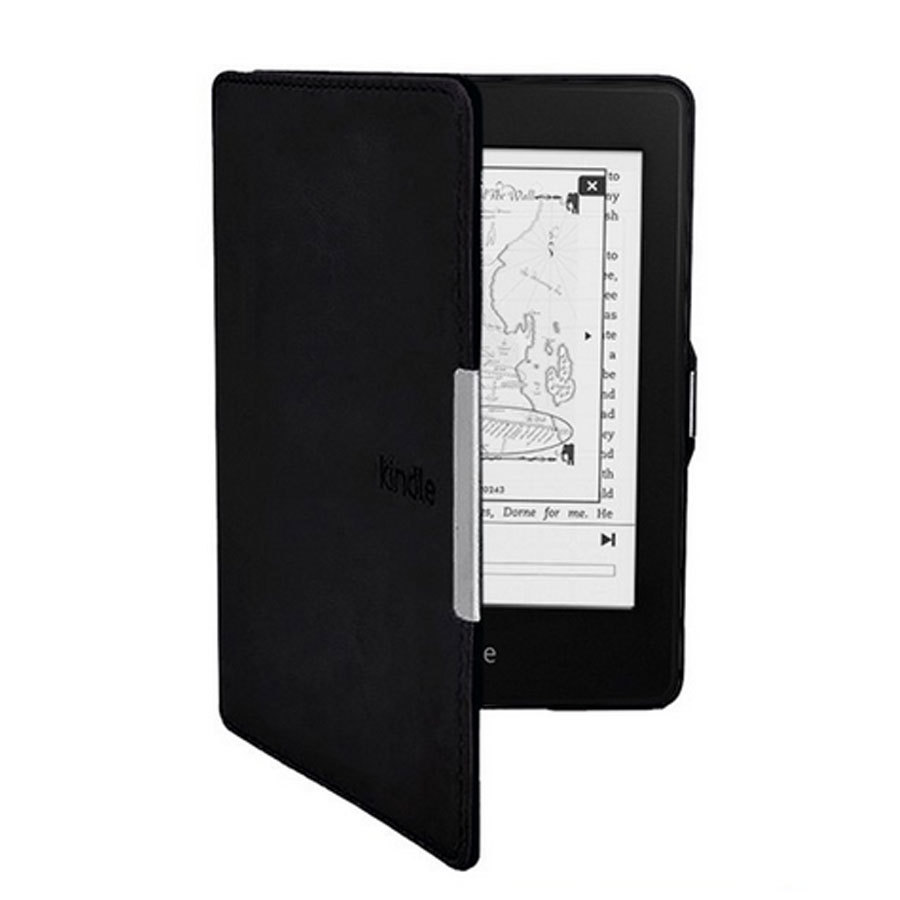 Fashion Crazy Horse Leather Kindle Paperwhite Case Magnet Cover For Amazons New KP With Sleep and Wake Up Function(China (Mainland))