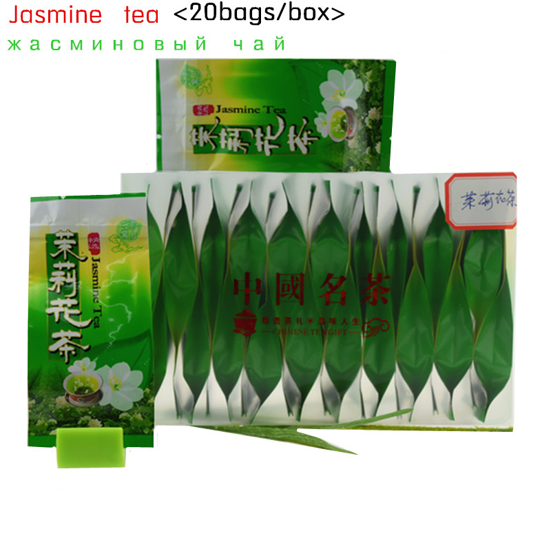 2015 Hot sale ! 20 bags/box Organic Jasmine Flower Tea jasmine scented Green tea 250g the tea Gift Freeshipping mo li hua cha<br><br>Aliexpress