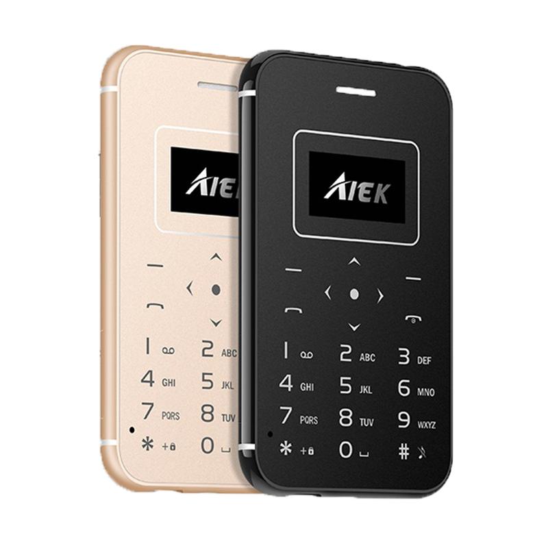 2017 Ultra Thin Card Mobile Phone AIEK/AEKU X8 Low Radiation Mini Pocket Students Personality Children Phone PK AIEK X6 M5 X7(China (Mainland))