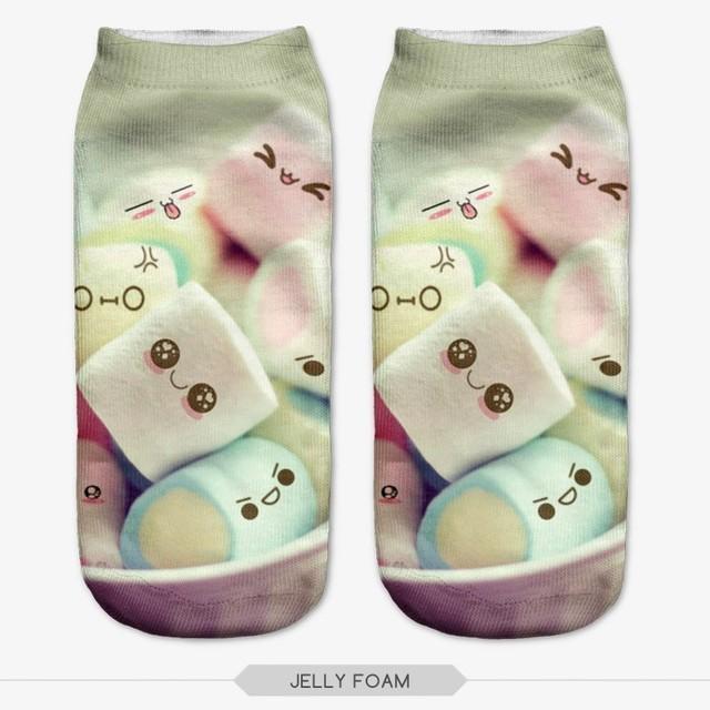 Sm036 21 цветов вы можете выбрать женщин носки 3D печать прекрасные роза ветров сладкие ...